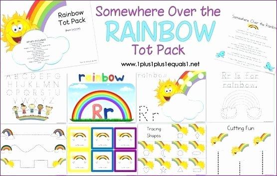 Rainbow Worksheets for Kindergarten Free Printable Rainbow Preschool toddler Education School