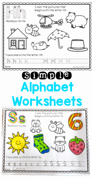 Rainbow Worksheets for Kindergarten Learning the Alphabet A Simple Alphabet Worksheet