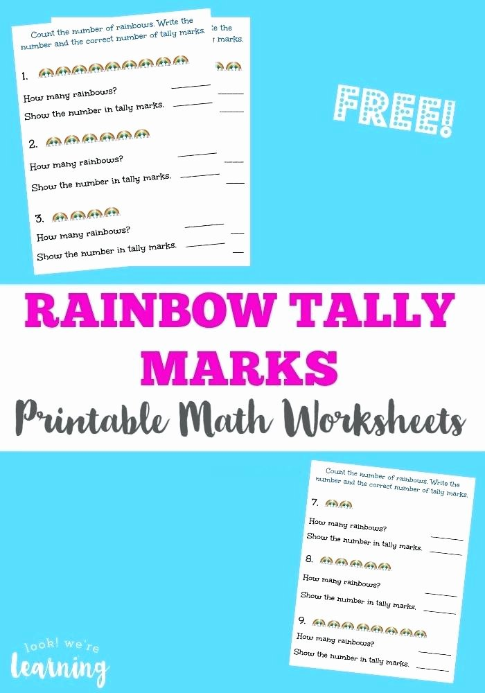 Rainbow Worksheets for Kindergarten Tally Marks Worksheets Activities Puzzles by Clearly Primary
