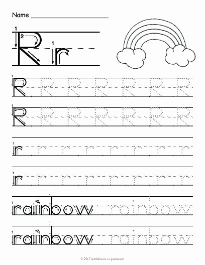 Rainbow Worksheets Preschool Letter Shapes Worksheets