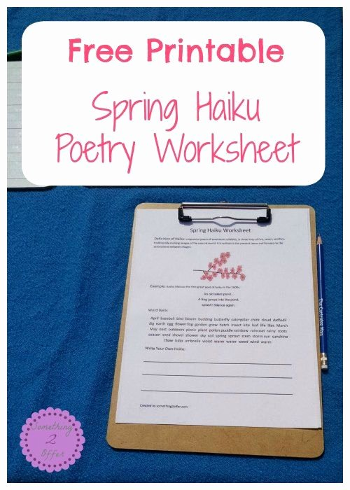 Rainbow Writing Worksheet Free Printable Spring Haiku Poetry Worksheet