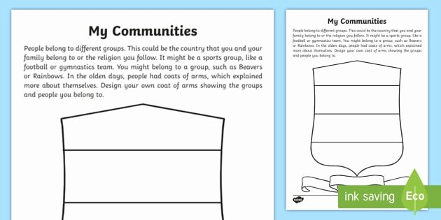 Rainbow Writing Worksheet Ks1 My Munities Worksheet Belonging Activities Clubs