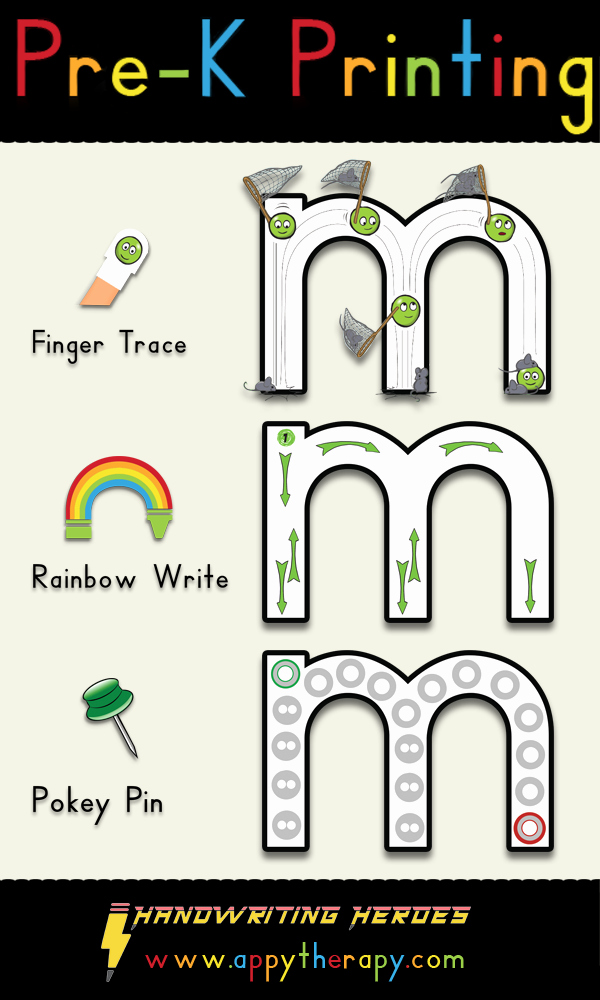 Rainbow Writing Worksheet Pre K Printing Appytherapy