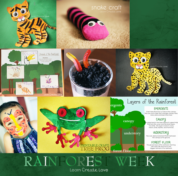 Rainforest Worksheets Free Rain forest Craft Ideas with Printable Patterns Look