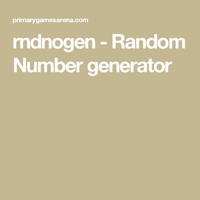 Random Multiplication Generator Rndnogen Random Number Generator