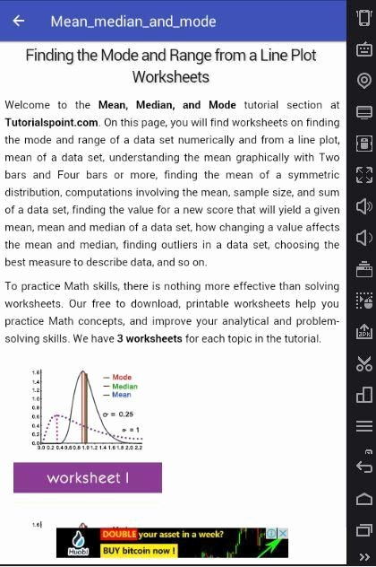 Range Mode Median Worksheets Learn Mean Median and Mode for android Apk Download