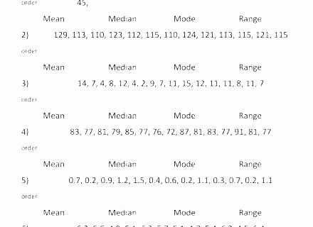Range Mode Median Worksheets Mean Median Mode Worksheets 7th Grade
