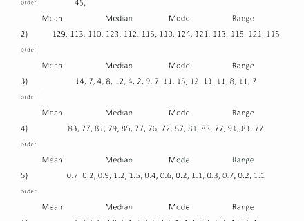 Range Mode Median Worksheets Mean Median Mode Worksheets 7th Grade