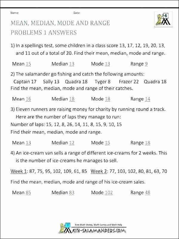 Range Mode Median Worksheets Mode Median Mean Range Worksheets – Primalvape