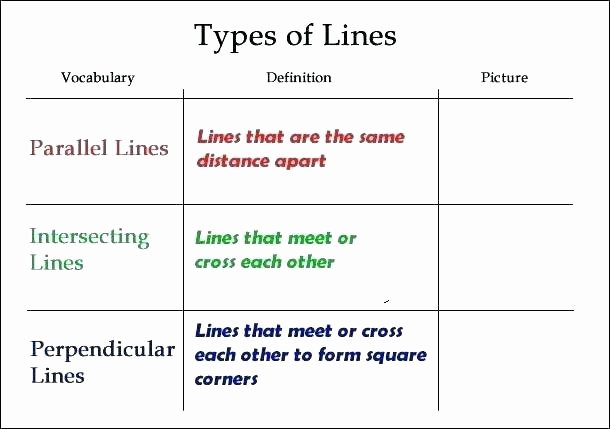 Rays Lines Line Segments Worksheet Points Lines and Planes Worksheets Answers Line Segment for