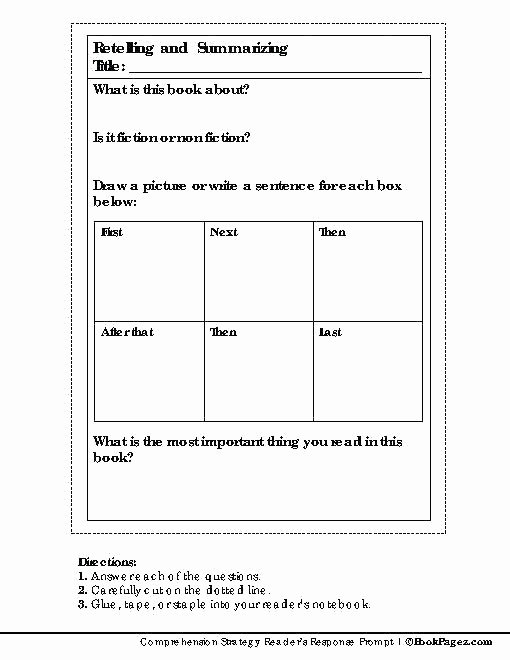 Read and Sequence Worksheets Retelling Beginning Middle End Template Year 1 Sequence