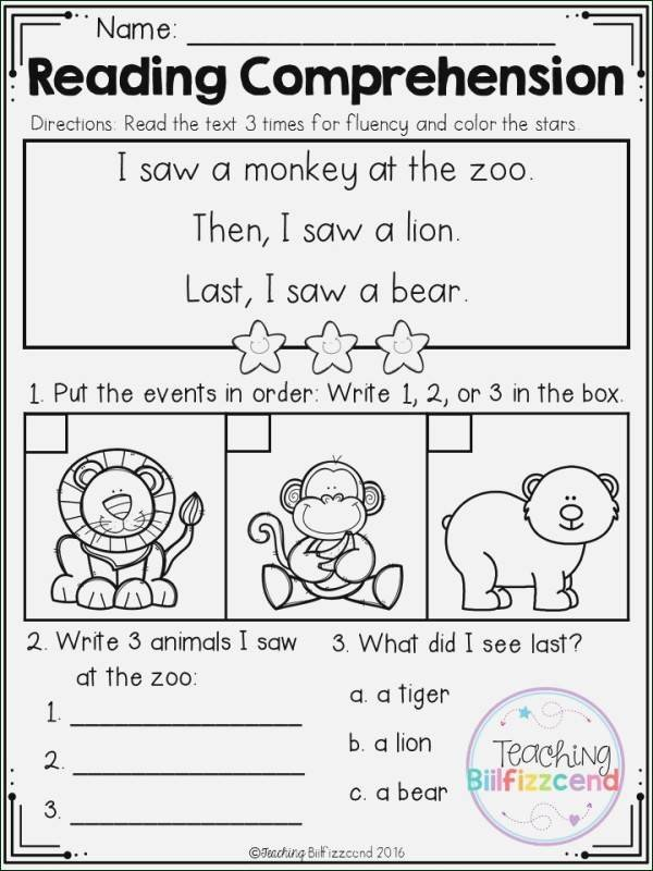 Read and Sequence Worksheets Sequencing Worksheets