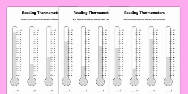 Reading A thermometer Worksheet Monthly Temperature Record Chart Monthly Temperature