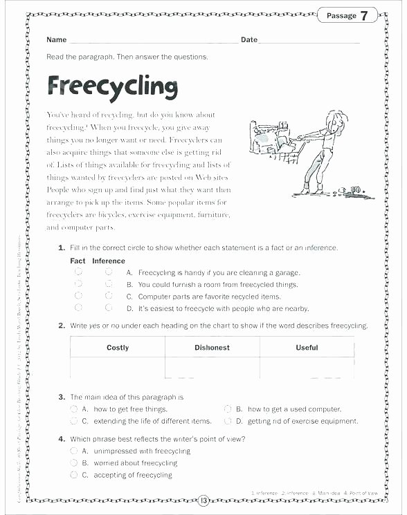Reading Comprehension Worksheets 6th Grade First Grade Reading Prehension Worksheets Printable