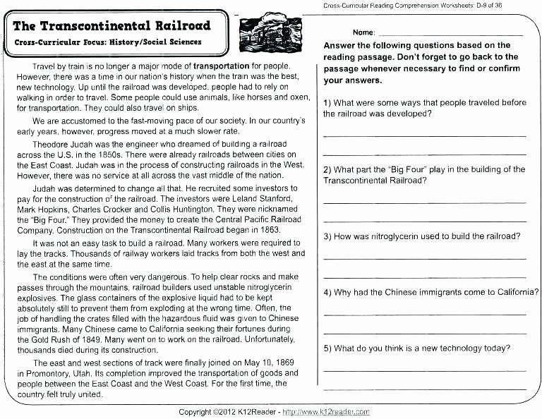 Reading Comprehension Worksheets 7th Grade Grade 3 Reading Prehension Worksheets Printable Second