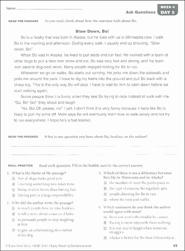 Reading Comprehension Worksheets 7th Grade Grade Reading Prehension Worksheets 7th Pdf Free and Sevent