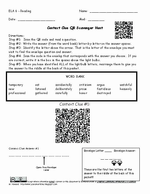 Reading In Context Worksheets High School Worksheet theme Beautiful Context Clues