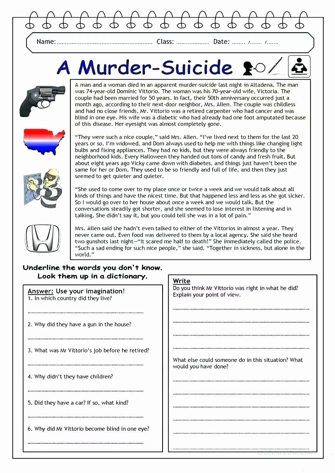 Reading In Context Worksheets Word Detective Page Find the Printable Reading Prehension
