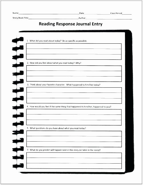 Reading Response Worksheets Awesome Self Esteem Journal Worksheet Junior Worksheets