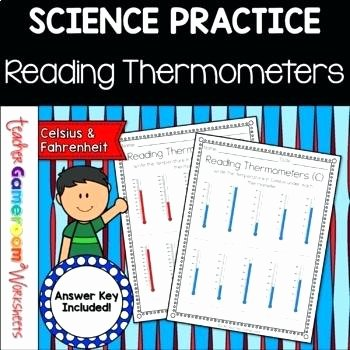 Reading thermometers Worksheet Answers Reading Temperatures From thermometers A the New Version