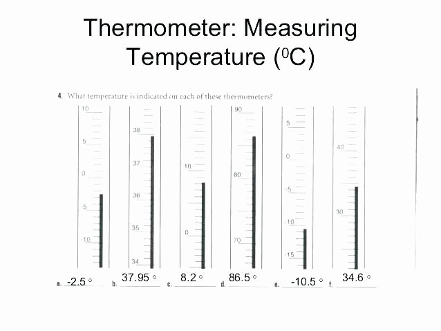 Reading thermometers Worksheet Answers thermometer Worksheets