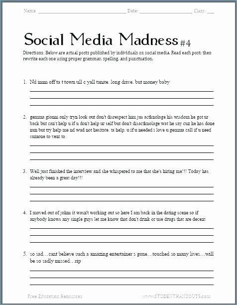 Reading Worksheets 5th Grade Free 5th Grade English Worksheets