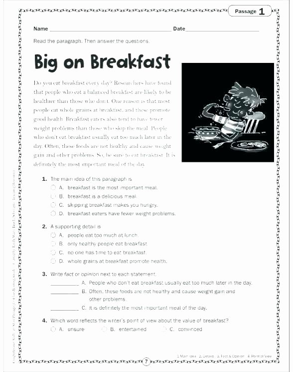 Reading Worksheets 5th Grade Reading for Details Worksheets