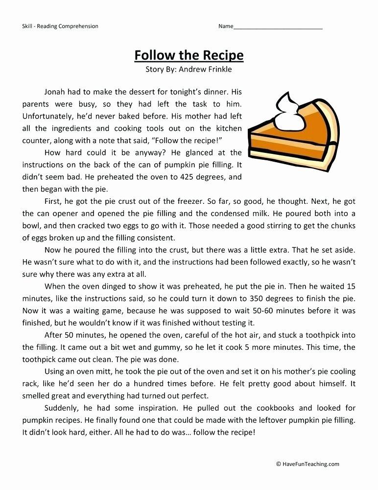Reading Worksheets Grade 5 5th Grade Reading and Prehension Worksheets