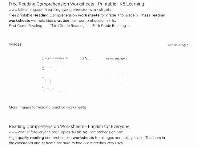 Reading Worksheets Grade 5 Free Third Grade Reading Worksheets
