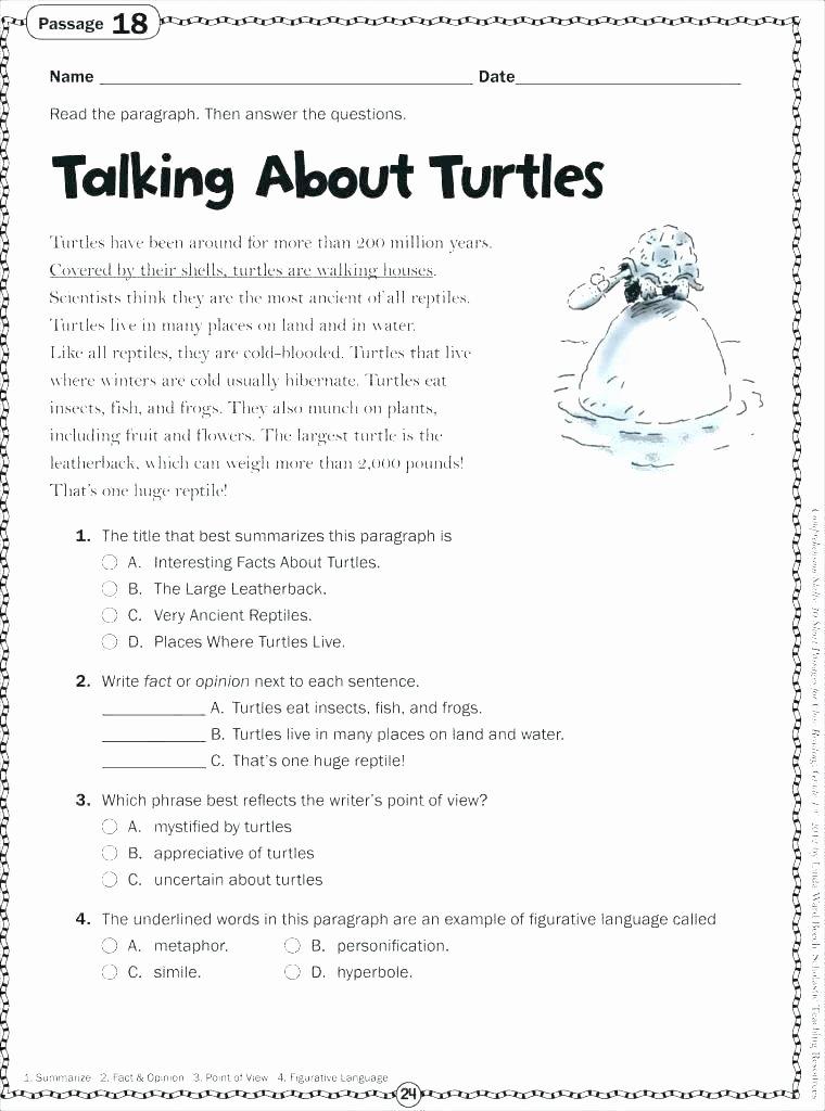 Reading Worksheets Grade 5 Fun Reading Worksheets for 4th Grade
