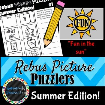 Rebus Brain Teasers Printable Rebus Brain Teasers Worksheets & Teaching Resources