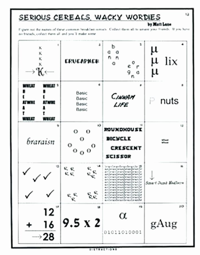 Rebus Puzzles for Kids Worksheet Brain Teasers Printable Worksheets Mind Activities Rebus