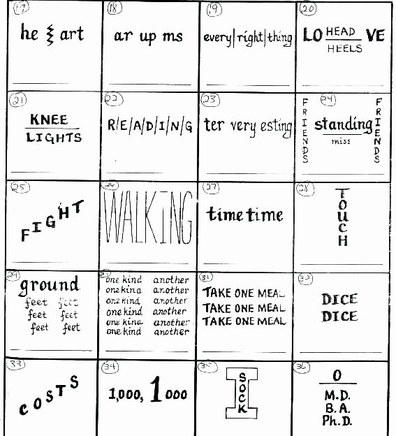 Rebus Puzzles for Kids Worksheet Rebus Story Worksheets Best Wacky Words Puzzles