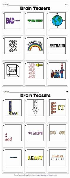 Rebus Puzzles for Middle School 415 Best Brain Breaks Images In 2019