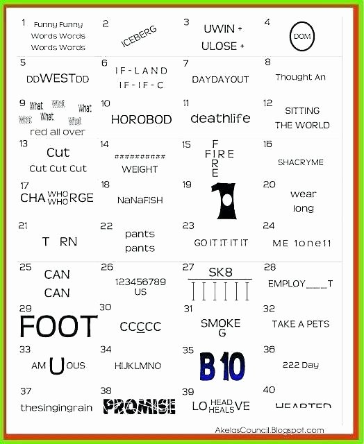 Rebus Puzzles for Middle School Free Printable Brain Teaser Worksheets