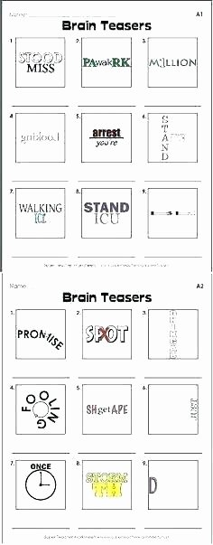 Rebus Puzzles for Middle School Science Brain Teasers Worksheets – butterbeebetty