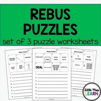 Rebus Story Worksheets Rebus Puzzle Worksheets