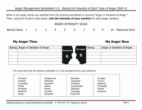 Recognizing Emotions Worksheets Resentment Worksheets