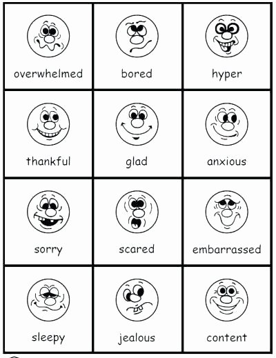 Recognizing Emotions Worksheets Similar for Free Printable Feelings Worksheets