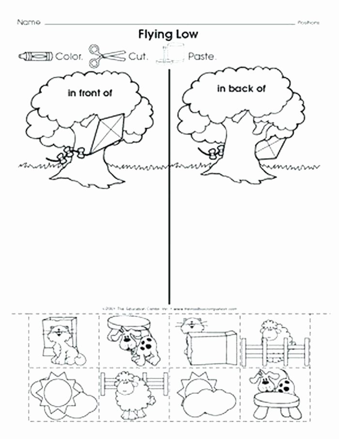 Recycle Worksheets for Kindergarten Inspirational Preschool Position Worksheets Outside Inside the Left
