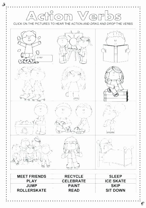 Recycle Worksheets for Kindergarten Luxury Verbs for Kindergarten – Apartamentosbogota