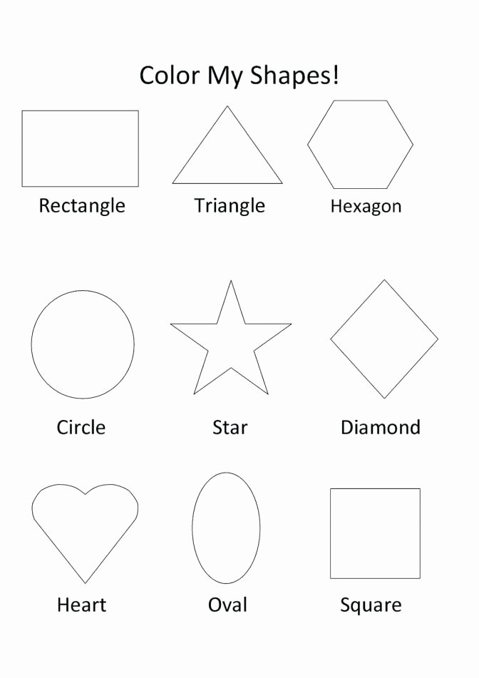 Recycle Worksheets for Preschoolers Elegant sorting Shapes Worksheets for Kindergarten Kids Color