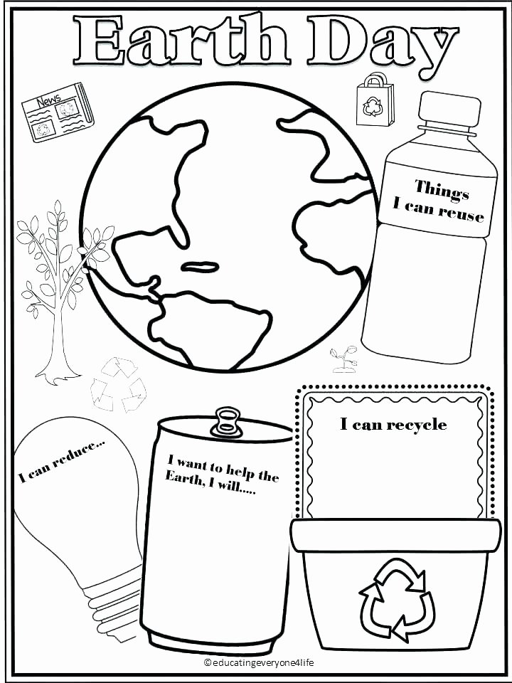 Recycle Worksheets for Preschoolers Lovely Earth Day Vocabulary Learning Games and Activities Free