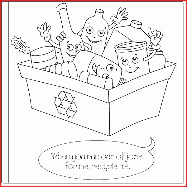 Recycle Worksheets for Preschoolers Luxury Recycling Coloring Pages Printable – thegoodvibeshop