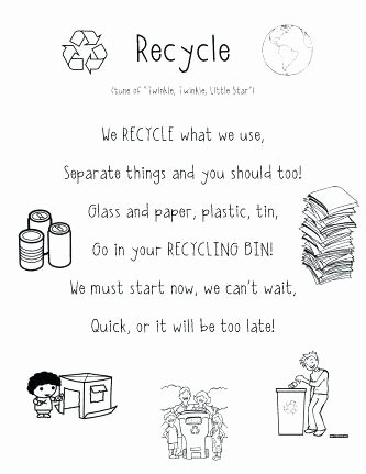 Recycle Worksheets for Preschoolers New Recycling for Kids Worksheets – Morningknits