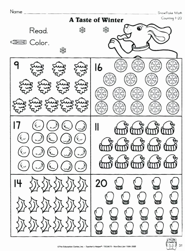 Recycling Worksheets for Kindergarten Count to Worksheet Free Worksheets Counting 1 20 Pdf for