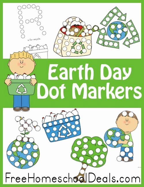 Recycling Worksheets for Kindergarten Free Earth Day Dot Marker Set 16 Pages