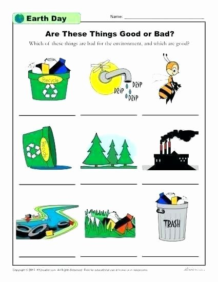 Recycling Worksheets for Middle School Earth Day Worksheets Printable Pack C Middle School