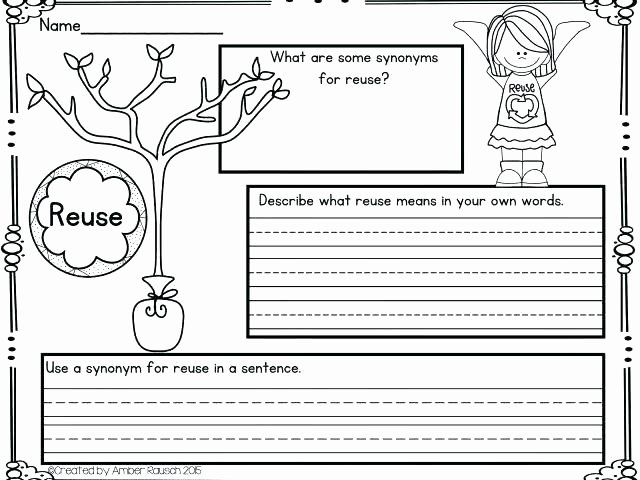 Recycling Worksheets for Middle School Free Earth Worksheets Paper Day Reading Prehension