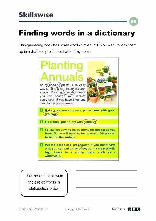 Recycling Worksheets for Middle School Posting Worksheets High School Entry Words In A